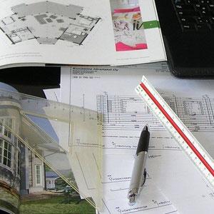 Überprüfung von Blockwandzeichnungen  © Blockhaus-Profi