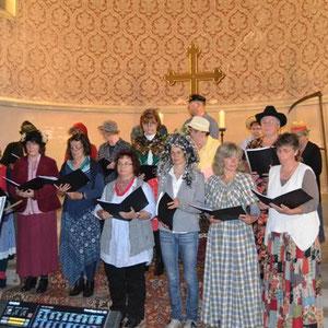 Dorffest in Zehlendorf 2013 Der Chor eröffnete das Dorffest und überzeugte gesanglich mit viel Humor.