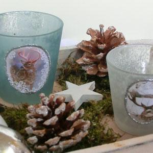 Tischdekoration Winterhauch