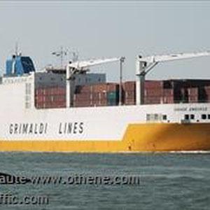 Grande Amburgo - dieser Frachter soll unseren Camper nach Zarate bei Buones Aires bringen