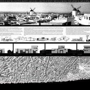 Proyecto de auditorio, Rodrigo Pérez Muñoz, Arquitecto.