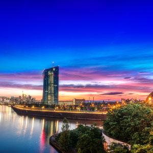 Sonnenuntergang Skyline Frankfurt