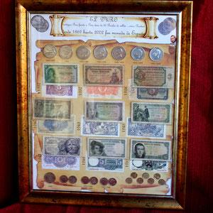 Todos los DUROS de la Historia de España desde 1879 y 2001 (Monedas y Billetes originales)