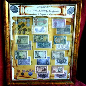 Todas las PESETAS de la Historia de España desde 1879 y 2001 (Monedas y Billetes originales)