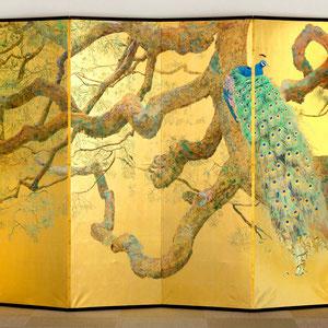 《孔雀-静-》 168.5×351.0cm 2017