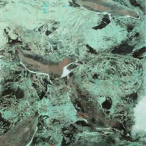 《飛流》 162×162cm 2012  /第31回上野の森美術館大賞展 優秀賞