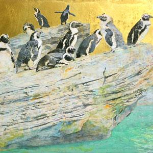 《岩ペンギン》 F10 2017