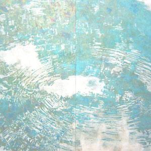 《奏》 194×194cm 2010  /第47回神奈川県美術展