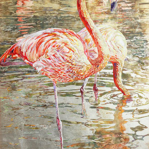 《Flamingo》 72.7×50.0cm 2014  /美術新人賞デビュー2016