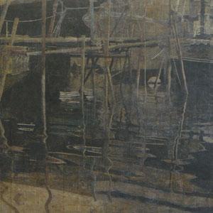 《夕桟橋》 194×365cm 2009  /大学卒業制作