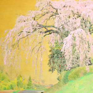 《三春 馬場の桜》 38.0×45.5cm 2017