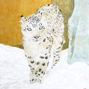 《雪豹》 45.5×31.8cm 2016
