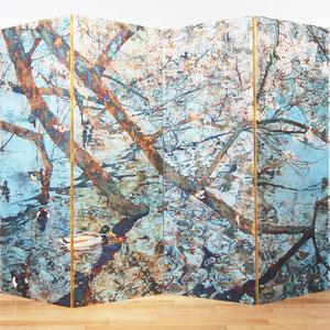 《春の響き》 200×400cm 六曲一隻 2012  /ArtistGroup-風-第1回公募展