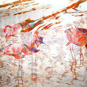 《Flamingo》 200.0×348.5cm 2015  /第31回上野の森美術館大賞展 入賞者展