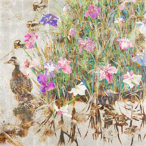 《彩りの水辺》  162.0×162.0cm 2015  /Seed 山種美術館 日本画アワード 2016
