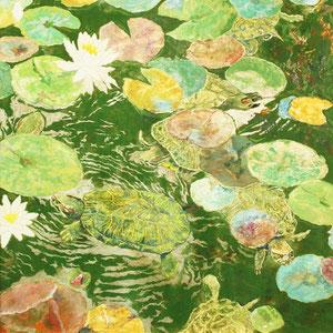 《水面華》 100×100cm 2011  /第14回三菱商事アート・ゲート・プログラム