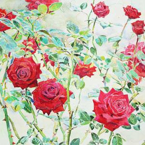 《バラ》 31.8×41.0cm 2014