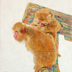 《猿》 41.0×31.8cm 2017