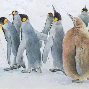《雪中散歩》 27.3×41.0cm 2016