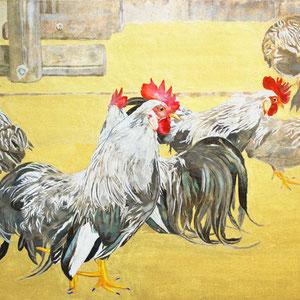 《群鶏》 45.5×53.0cm 2016