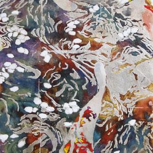 《水面-春-》 100×30cm 2012  /第17回三菱商事アート・ゲート・プログラム