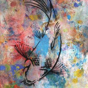 Urban Art, Fisch Gemälde