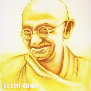 Urban Art, Mahatma Gandi Portrait