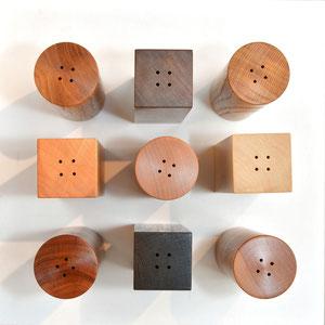 Salzstreuer in unterschiedlichen Holzarten - ein Schmuck für jeden Tisch