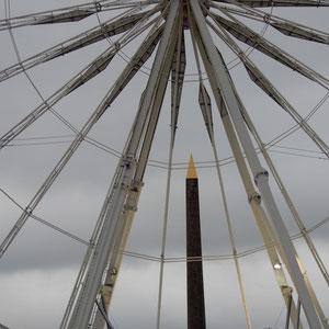 Vom Place de la Concorde aus ...