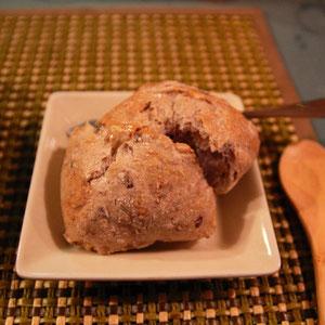 天然酵母のパン ふんわりと美味しかったよ、このタイミングでパンが出るとは驚きだね〜