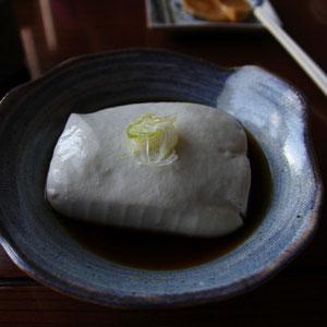 地元産大豆のおぼろ豆腐(須賀川とうふ)は絶品!