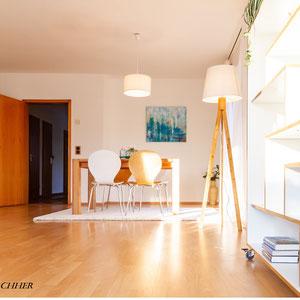 Home Staging Johannsen Kiel Bad-Segeberg Schleswig-Holstein Raumgestaltung Essecke Doppelhaushälfte