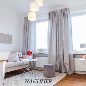 Wohnzimmer nachher, Home Staging JOHANNSEN Kiel, Schleswig-Holstein
