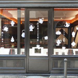Henri Le Roux - vitrine thé - façade Saint Germain