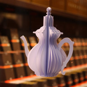 Henri Le Roux - vitrine thé - zoom théière