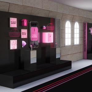 SEPHORA X LEVER DE RIDEAU > exposition sur les innovations de la marque : digital / architecture /