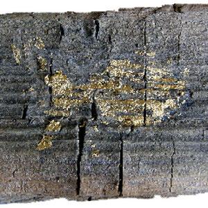 """""""traccia del pesce d'oro su un pezzo di legno""""cm9,5x5"""
