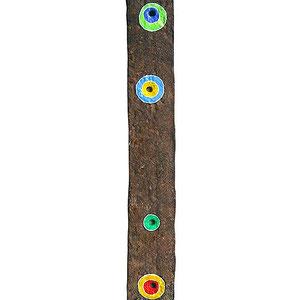 """""""cintura (pezzo)"""" acrilici su pezzo di ferro cm37x4,5"""