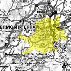 DAB+ multiplex Clermont-Ferrand local, canal 6B