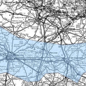 DAB+ multiplex Amiens étendu, canal 8D