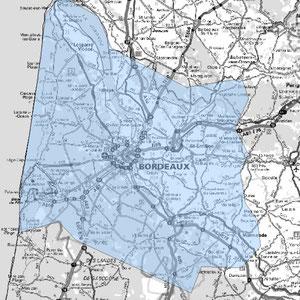 DAB+ multiplex Bordeaux étendu, canal 8C