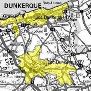 DAB+ multiplex Dunkerque local, canal 8D
