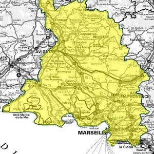 DAB+ multiplex Marseille intermédiaire, canal 8A et 7A