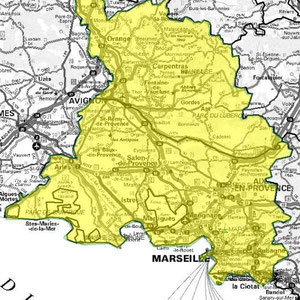 DAB+ multiplex Marseille intermédiaire, canal 8A et canal 7A