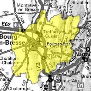 DAB+ multiplex Bourg-en-Bresse, canal 6D