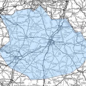 DAB+ multiplex Poitiers étendu, canal 9C