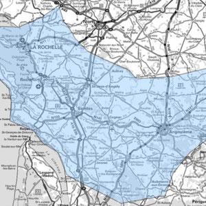 DAB+ multiplex La Rochelle étendu, canal 10D
