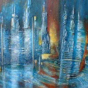 La nuit - peinture contemporaine de Sylvie Boulet