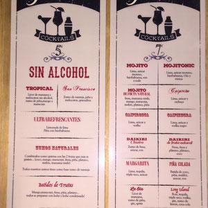 Carta de Cocktail para La Martina Bar Madrid
