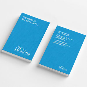 tarjetas para Hosuma. Distribuidora de material quirúrgico